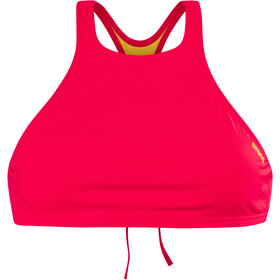 arena Think Crop Top Femme, fluo red-yellow star